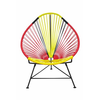 Canela Pear Papasan Chair Frame Finish: Black, Seat Finish: Germany