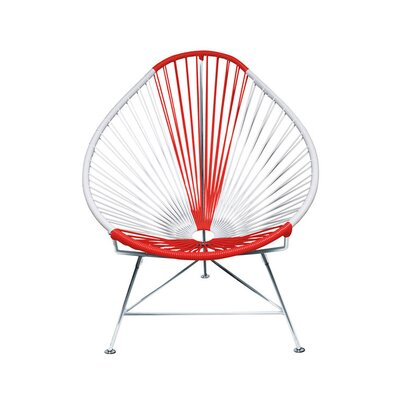 Canela Pear Papasan Chair Frame Finish: Chrome, Seat Finish: Japan