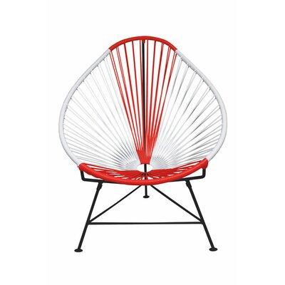 Canela Pear Papasan Chair Frame Finish: Black, Seat Finish: Japan
