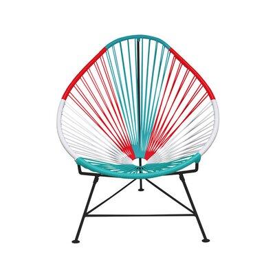 Acapulco Papasan Chair Color: Black, Finish: Mexico