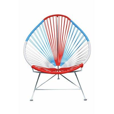 Acapulco Papasan Chair Color: Chrome, Color: USA