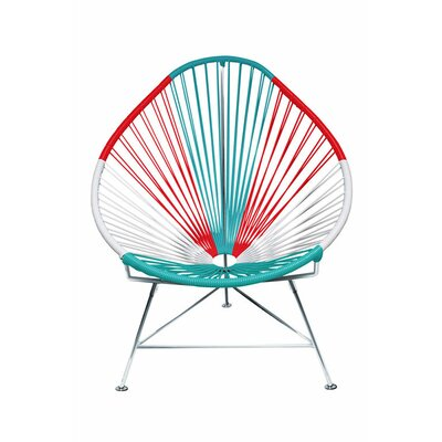 Canela Pear Papasan Chair Frame Finish: Chrome, Seat Finish: Mexico