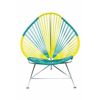 Acapulco Papasan Chair Color: Chrome, Color: Brazil