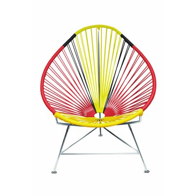 Canela Pear Papasan Chair Frame Finish: Chrome, Seat Finish: Germany