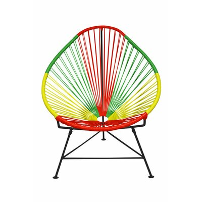 Canela Pear Papasan Chair Frame Finish: Black, Seat Finish: Portugal