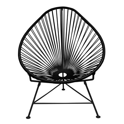 Canela Papasan Chair Finish: Black
