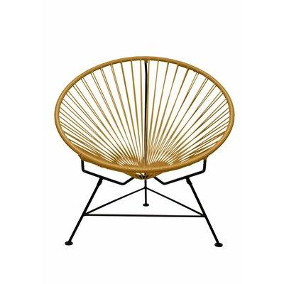 Papasan Chair Finish: Black, Upholstery: Gold