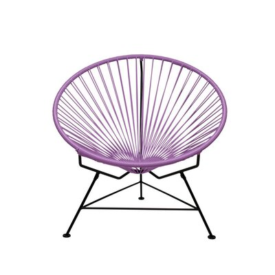 Papasan Chair Finish: Black, Upholstery: Orchid