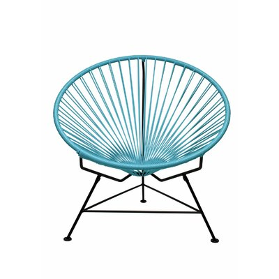 Papasan Chair Finish: Black, Upholstery: Blue