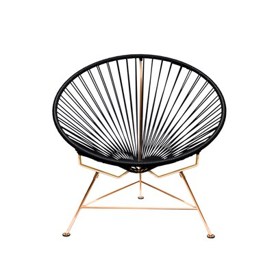 Papasan Chair Finish: Copper, Upholstery: Black