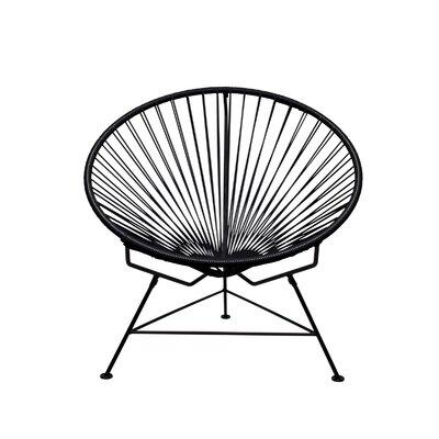 Papasan Chair Finish: Black, Upholstery: Black