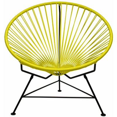 Papasan Chair Finish: Black, Upholstery: Lime Yellow