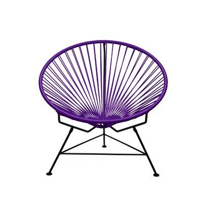 Papasan Chair Finish: Black, Upholstery: Purple