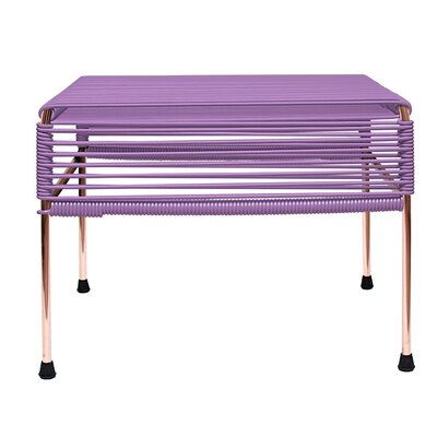 Cobbey Cocktail Ottoman Finish: Copper/Orchid