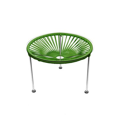 Zica End Table Base Color: Chrome, Top Color: Cactus