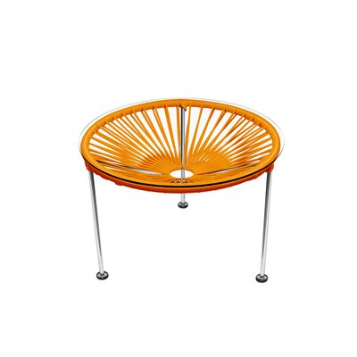 Zica End Table Base Color: Chrome, Top Color: Orange