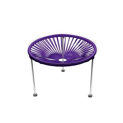 Zica End Table Base Color: Chrome, Top Color: Purple