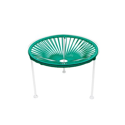 Zica End Table Base Color: White, Top Color: Turquoise