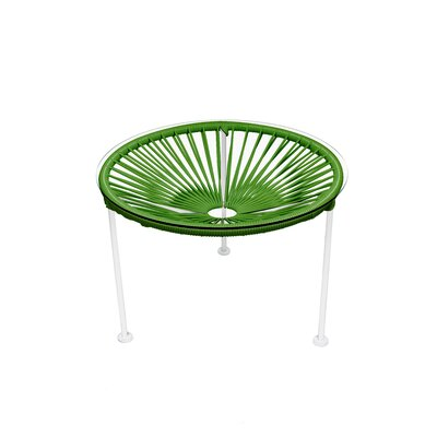 Zica End Table Base Color: White, Top Color: Cactus