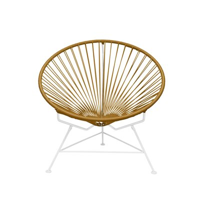 Papasan Chair Finish: White, Upholstery: Gold