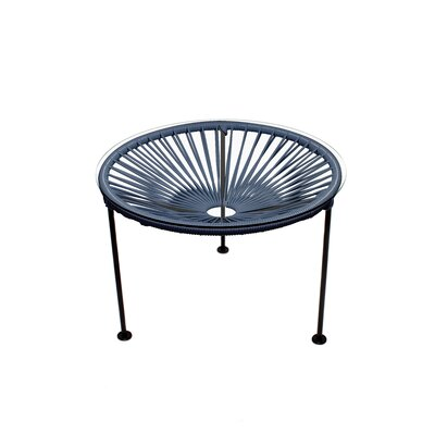 Zica End Table Base Color: Black, Top Color: Gray