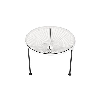 Zica End Table Base Color: Black, Top Color: White