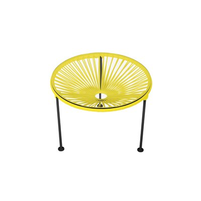 Zica End Table Base Color: Black, Top Color: Yellow