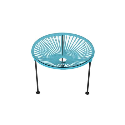 Zica End Table Base Color: Black, Top Color: Blue