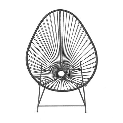 Innit Acapulco Rocking Chair - Weave Color: Gray, Frame Color: White at Sears.com