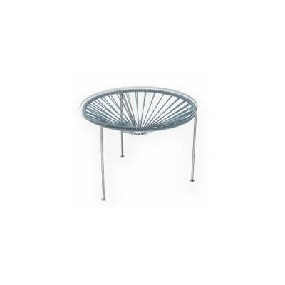 Innit Zica Table - Frame Color: Chrome, Weave Color: Grey