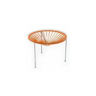 Innit Zica Table - Frame Color: Chrome Weave Color: Orange