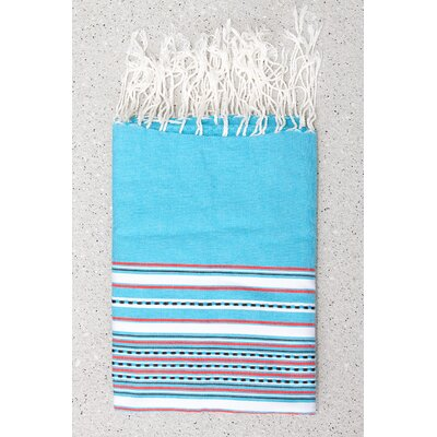 Tunisian Fouta Towels Bath Sheet Color: Turquoise