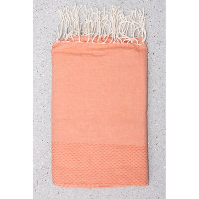 Tunisian Fouta Towels Bath Sheet Color: Orange