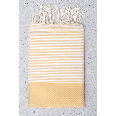 Tunisian Fouta Towels Bath Sheet Color: Mustard