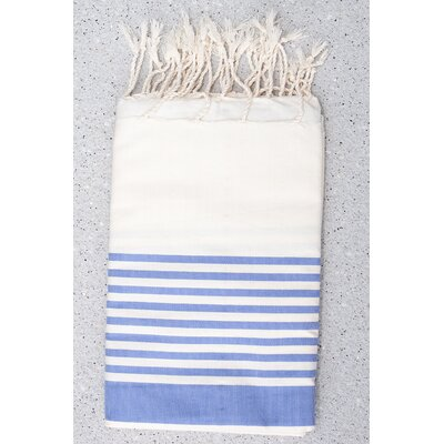 Tunisian Fouta Towels Bath Sheet Color: Blue