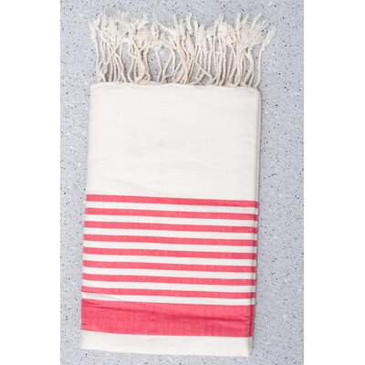 Tunisian Fouta Towels Bath Sheet Color: Red