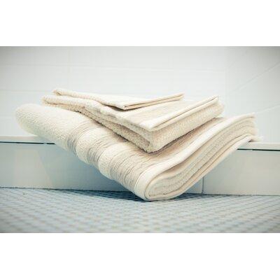 Linen/Cotton 550 grams 3 Piece Towel Set with 3 Stripes Color: Taupe