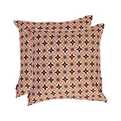 Bali Cotton Throw Pillow Color: Purple