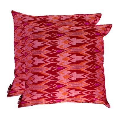 Ikat Cotton Throw Pillow