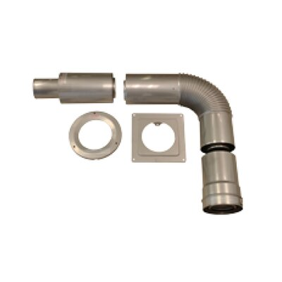 Concentric Horizontal Vent Kit for Thick Wall