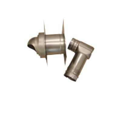 Single-Wall with Horizontal Termination Vent Kit for Thick Wall
