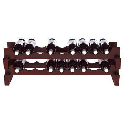 Stackable Rack 18 Bottle Tabletop Wine Rack Finish: Mahogany