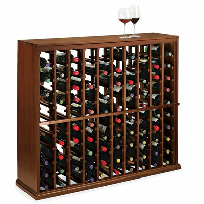 Nfinity 100 Bottle Floor Wine Rack Finish: Dark Walnut