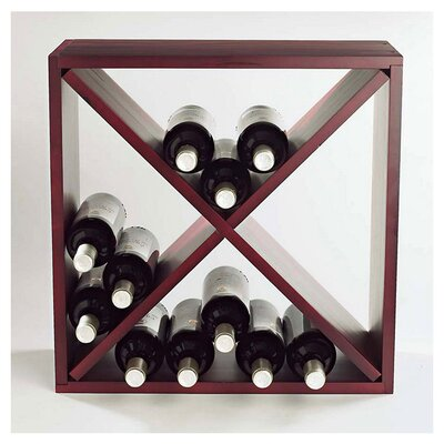Stackable Cube 24 Bottle Tabletop Wine Rack Finish: Mahogany