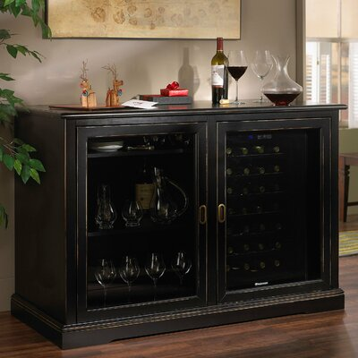 Siena 28 Bottle Single Zone Wine Sideboard Color: Nero