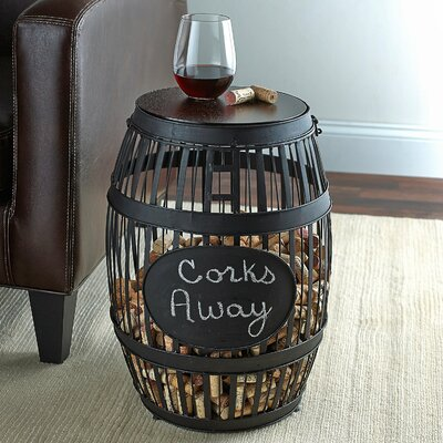 Barrel Cork Catcher End Table
