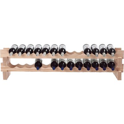 26 Bottle Tabletop Wine Rack Finish: Natural