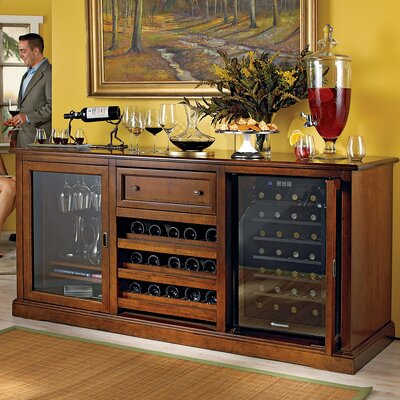 Siena Wine Credenza Color: Rich Walnut