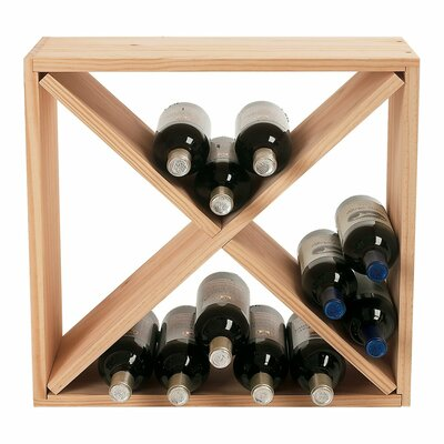 Stackable Cube 24 Bottle Tabletop Wine Rack Finish: Natural