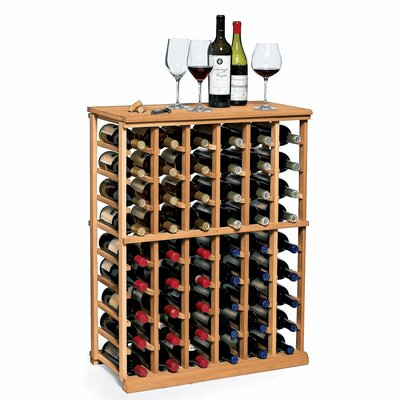 Nfinity 54 Bottle Floor Wine Rack Finish: Natural